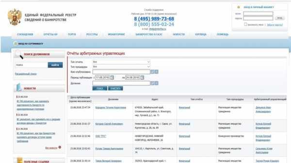 единый государственный реестр сведения о банкротстве